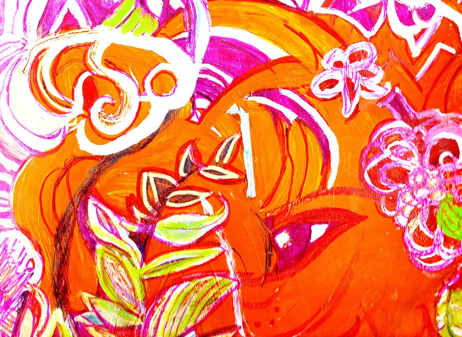 Wild Orange Woman Painting  - Wild Orange Woman Fine Art Print