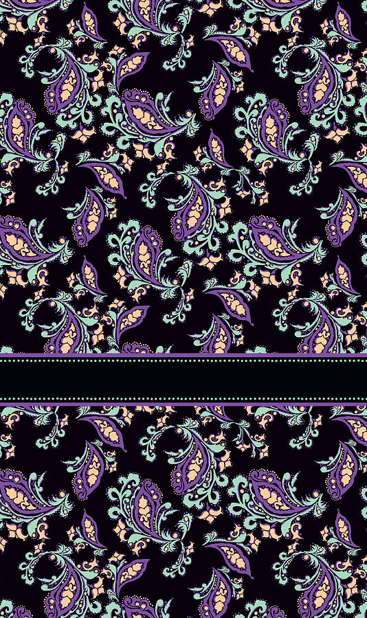 Wild Purple Paisley Mixed Media