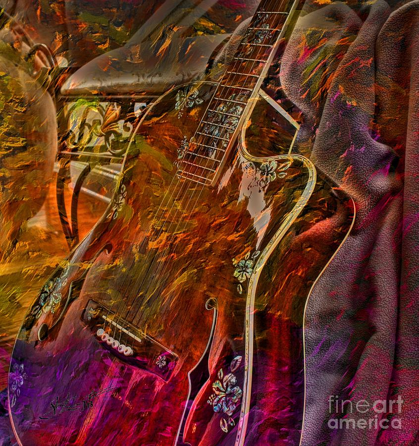 Wild Strings Digital Guitar Art By Steven Langston Photograph  - Wild Strings Digital Guitar Art By Steven Langston Fine Art Print