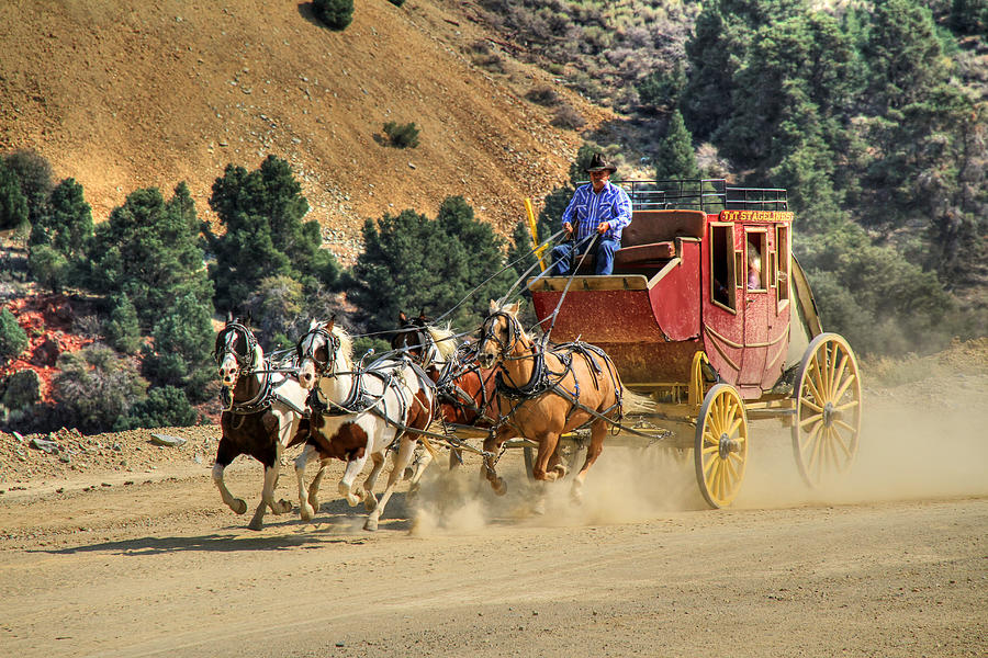 Stagecoach Photograph - Wild West Ride 2 by Donna Kennedy