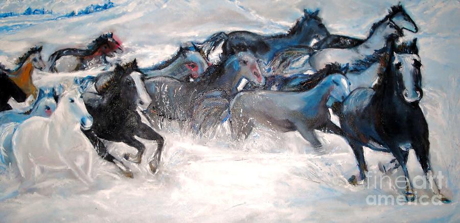 Wild Wild Horses Painting