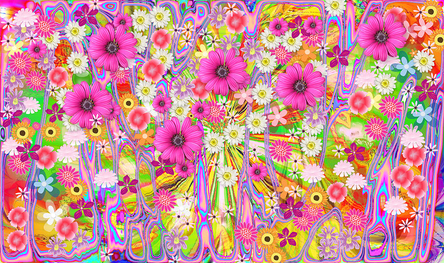 Wildflower Profusion Painting  - Wildflower Profusion Fine Art Print
