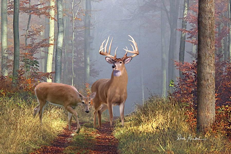 deer art painting artwork print north american wildlife art whitetail deer hunting monster buck endeerment