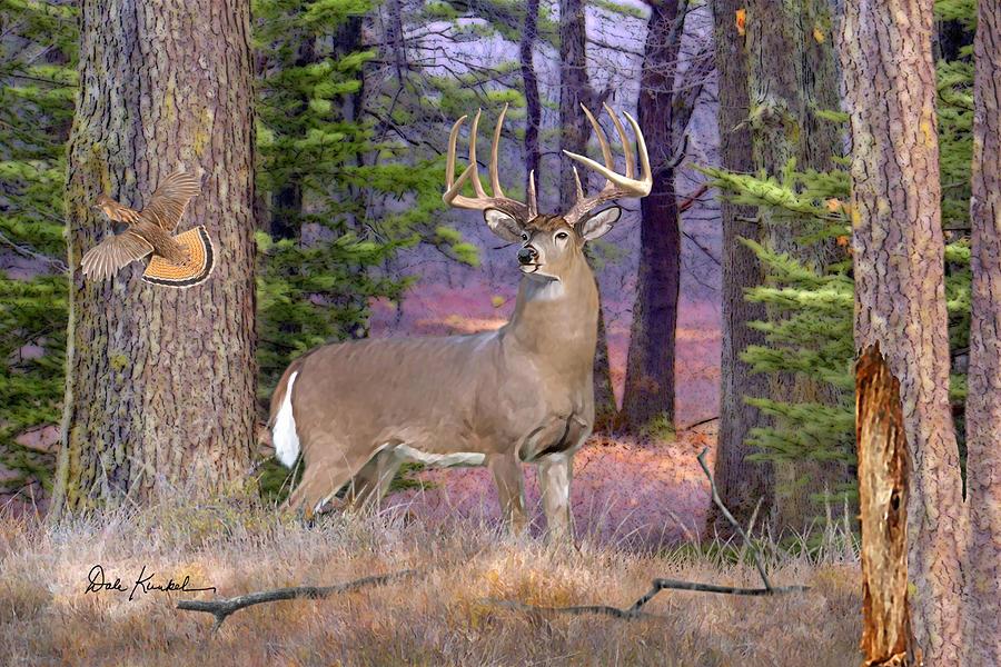 deer art painting artwork print north american wildlife art whitetail deer hunting monster buck prince North Woods Whitetails