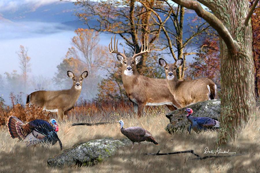 deer art painting artwork print north american wildlife art whitetail deer hunting monster buck November Whitetails