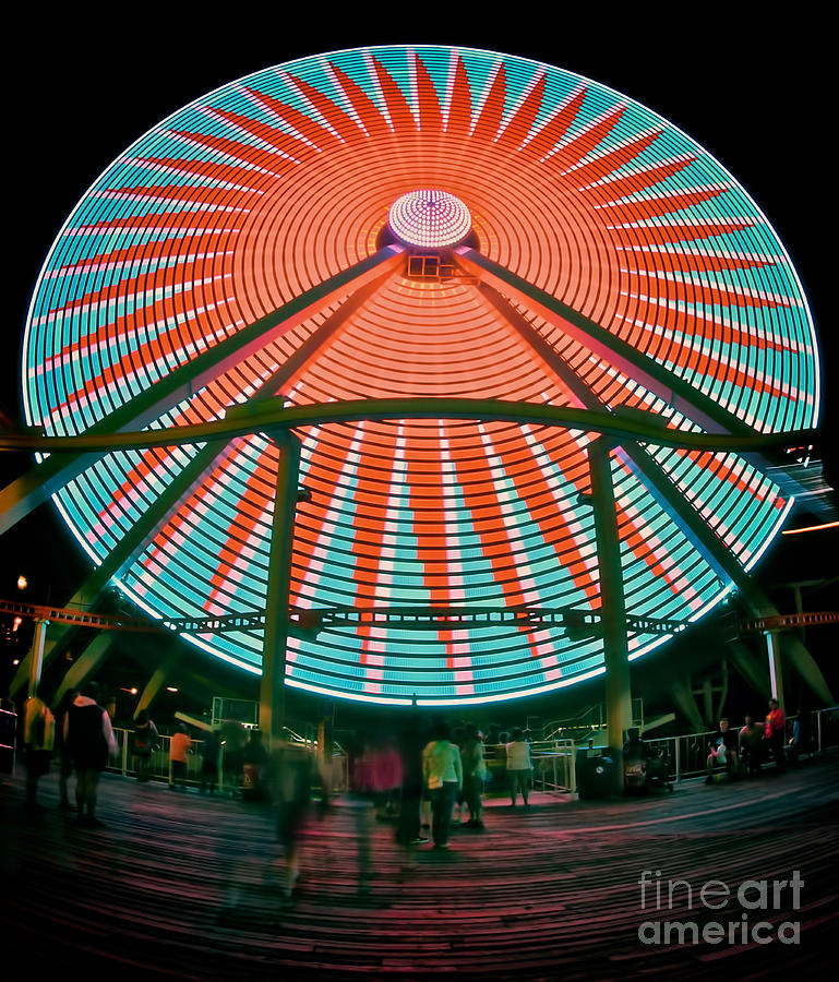 156 Foot Tall Photograph - Wildwoods Giant Wheel by Mark Miller