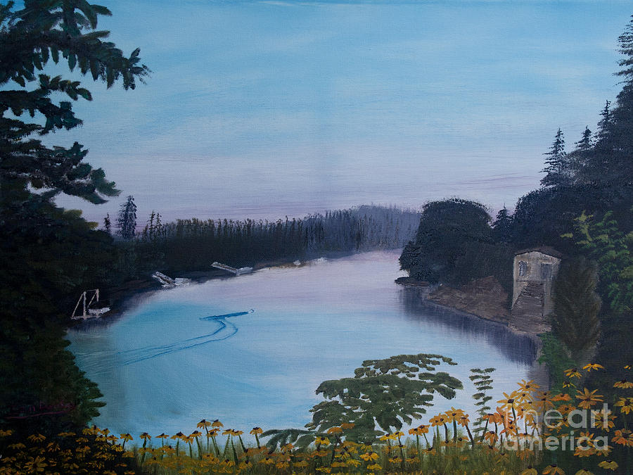 Willamette River Oregon Painting
