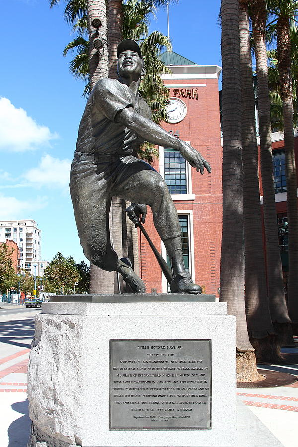 Willie Mays At San Francisco Giants Att Park . 7d7636 Photograph