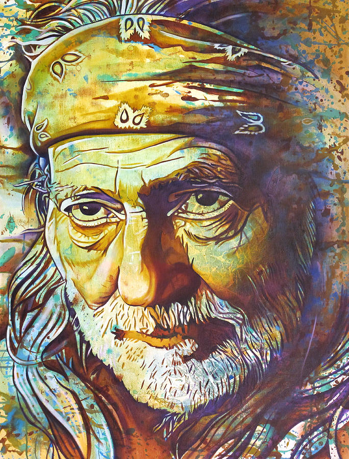 Willie Nelson Painting - Willie Nelson-funny How Time Slips Away by Joshua Morton