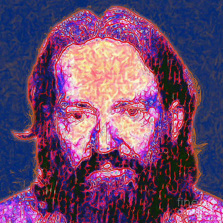 Willie Nelson Painterly 20130328 Square Photograph