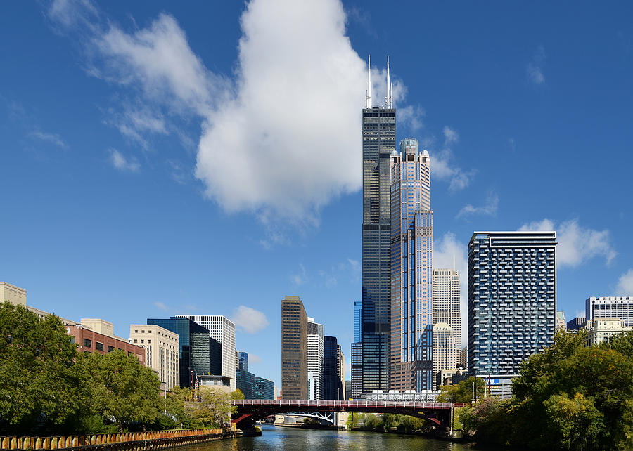 Willis Tower And 311 South Wacker Drive Chicago Photograph
