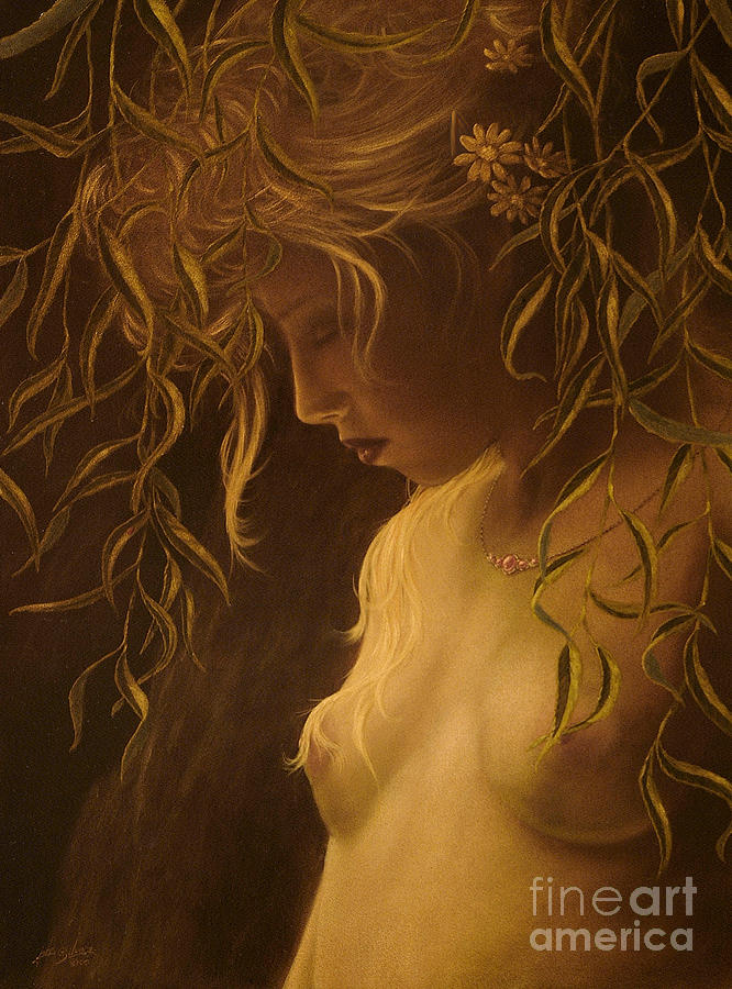Paintings Painting - Willow Girl by John Silver