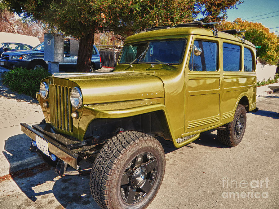 Willys 1947 Jeep Station Wagon Photograph By Chris Berry
