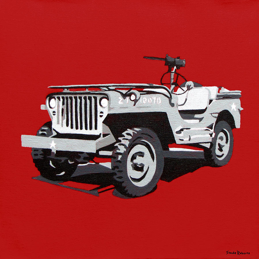 Willys Jeep Painting  - Willys Jeep Fine Art Print
