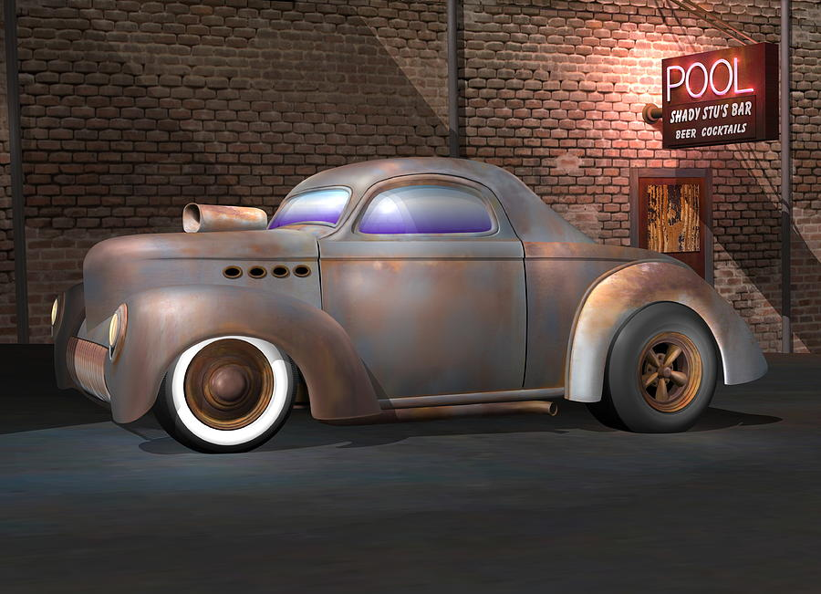 Willys Street Rod Digital Art