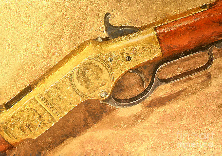Winchester 1866 Yellow Boy Rifle Painting