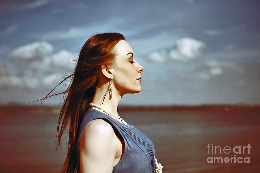 Wind In Her Hair Photograph