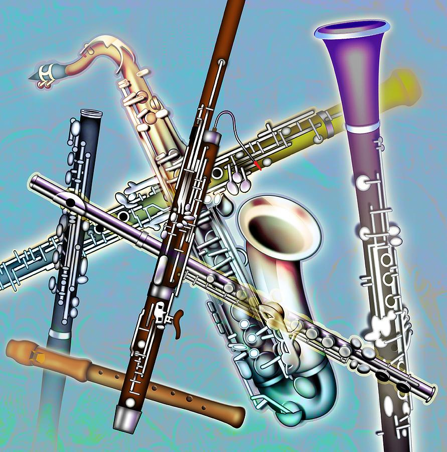 Wind Instruments Photograph  - Wind Instruments Fine Art Print