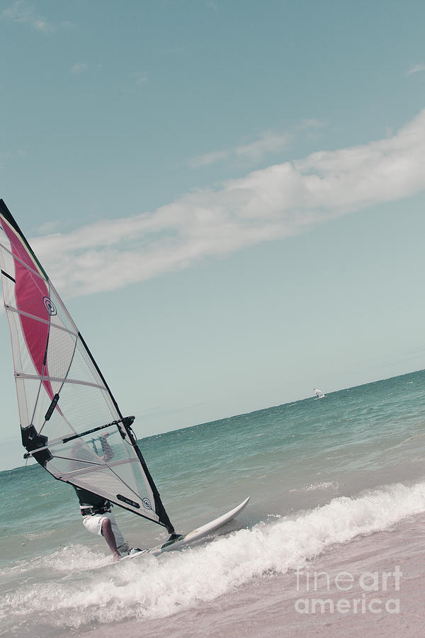Wind Surfing Kanaha Beach Maui Hawaii Photograph