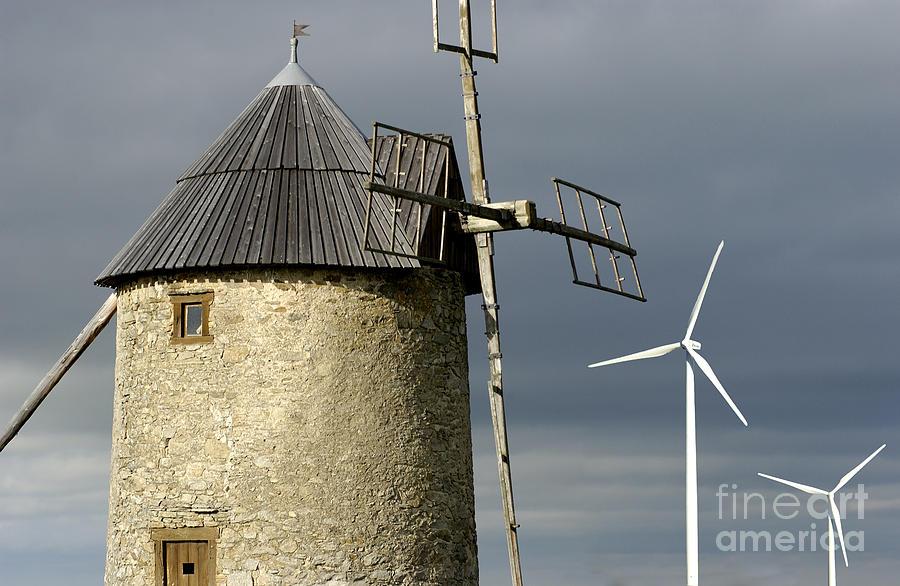Sky Photograph - Wind Turbines And Windfarm by Bernard Jaubert
