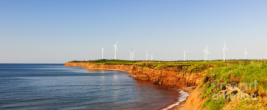 Wind Turbines On Atlantic Coast Photograph  - Wind Turbines On Atlantic Coast Fine Art Print