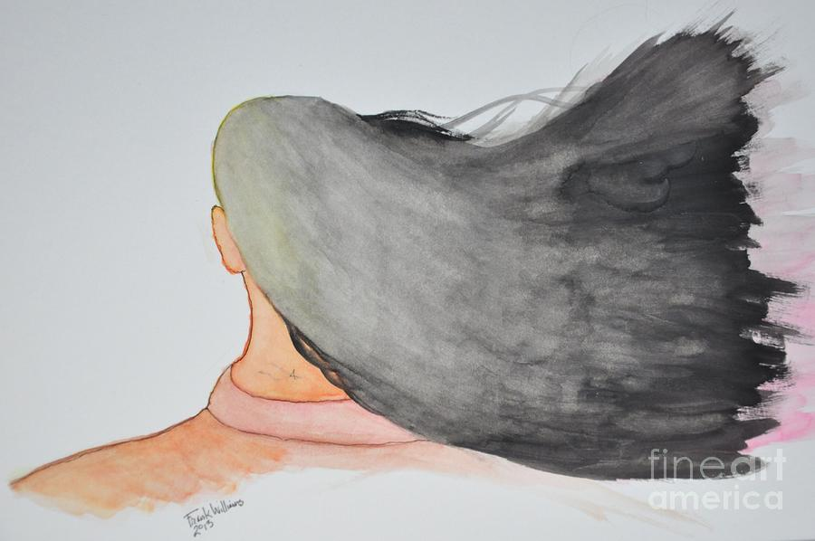 Watercolor Painting - Windblown by Frank Williams
