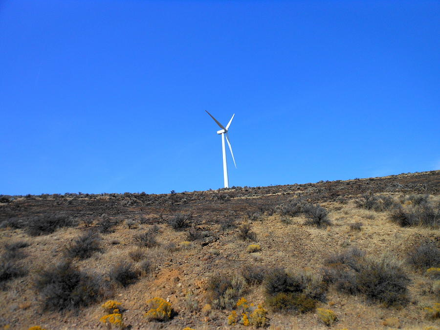 Windmill In The Desert Photograph