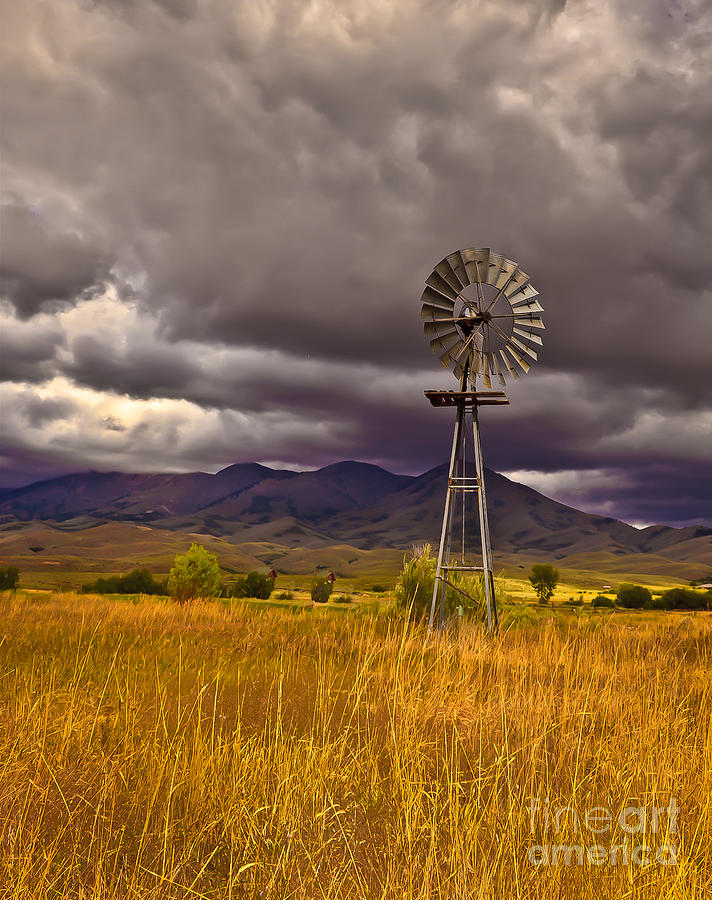 Solider Mountains Photograph - Windmill by Robert Bales