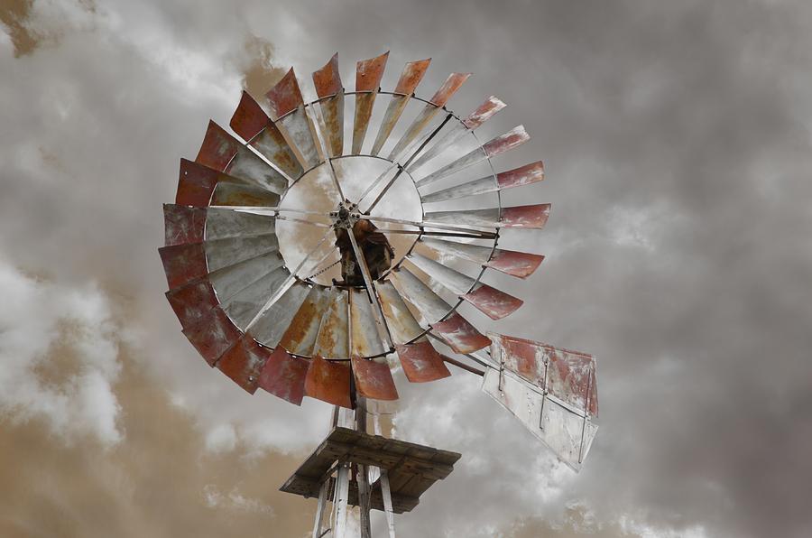 Sky Photograph - Windmill by Steven  Michael