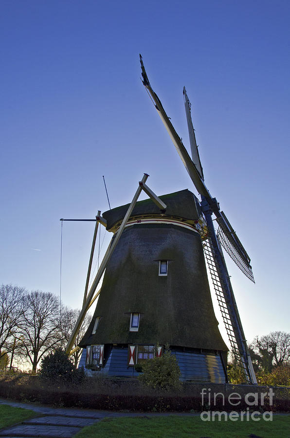 Windmills Of Holland Digital Art  - Windmills Of Holland Fine Art Print