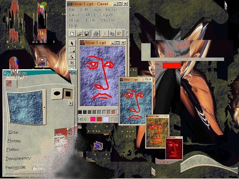 Netart Digital Art Digital Art - Window 01 by Teo Spiller
