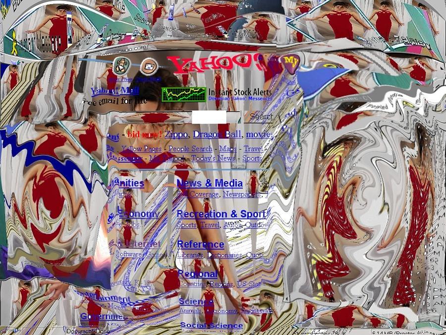 Cyber Digital Art - Window 101 by Teo Spiller
