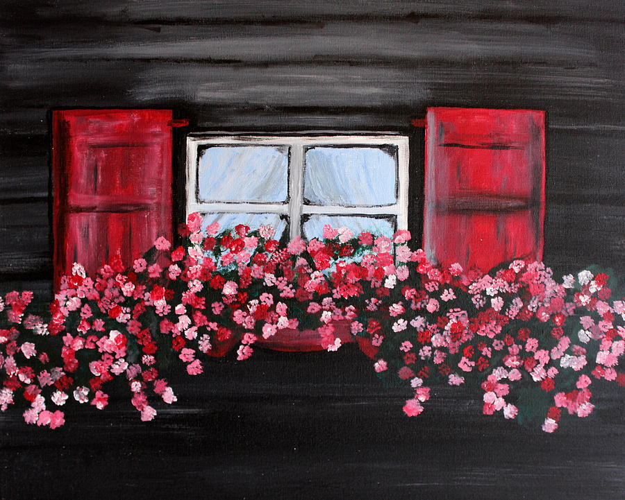 Country Painting - Window Box by Vicki Kennedy