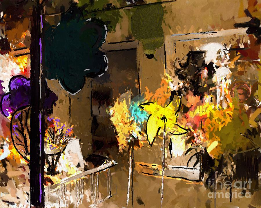 Window Dressing As Still Life Digital Art  - Window Dressing As Still Life Fine Art Print