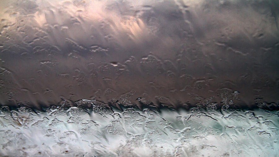 Abstract Photograph - Window Sea Storm by Stelios Kleanthous