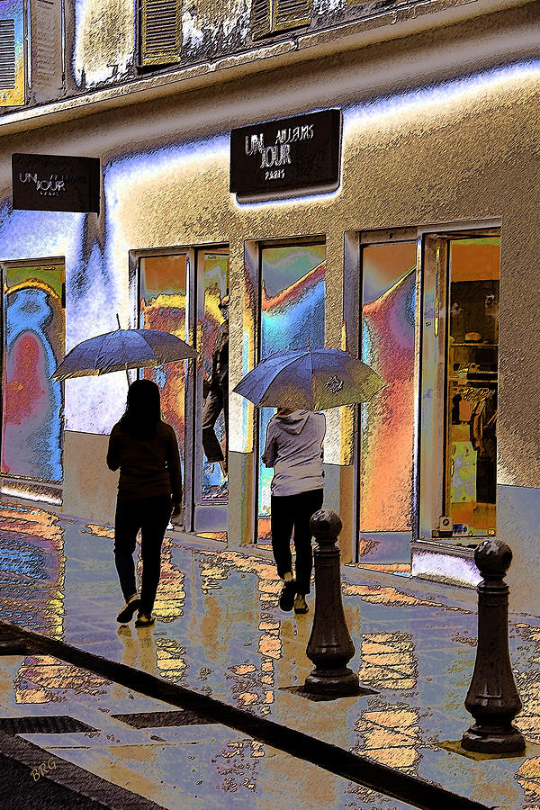 Window Shopping In The Rain Photograph