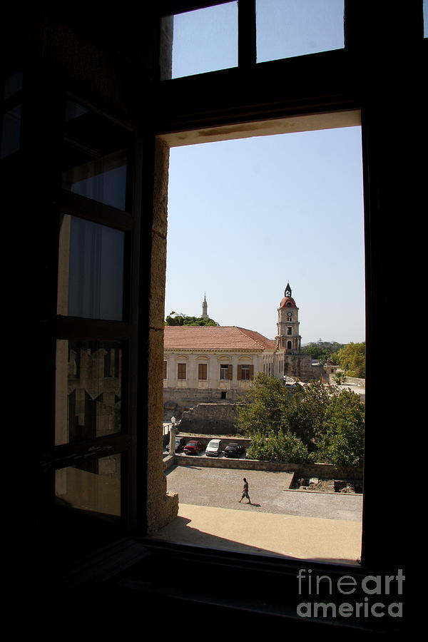 Window View - Clock Tower Photograph
