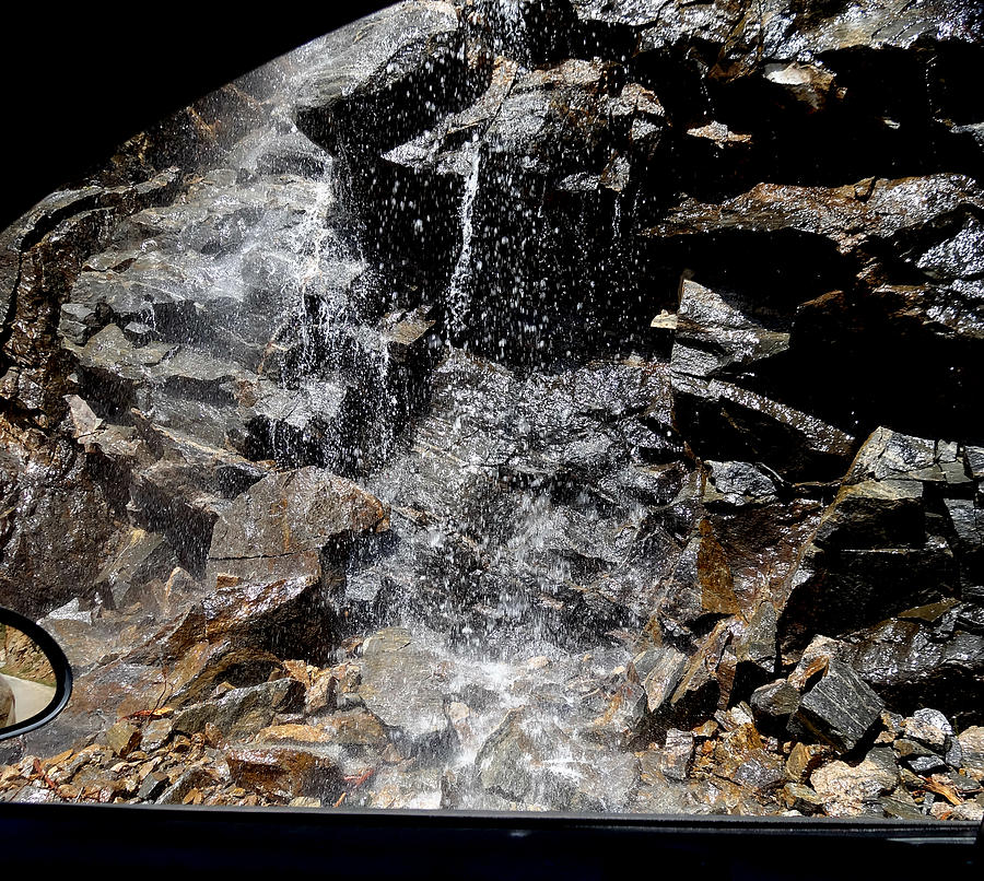 Melting Snow Photograph Photograph - Window Waterfall by Dan Sproul
