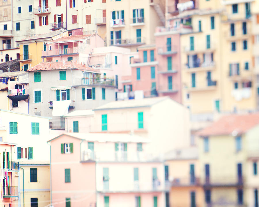 Italy Photograph - Windows Of Cinque Terre Italy by Kim Fearheiley