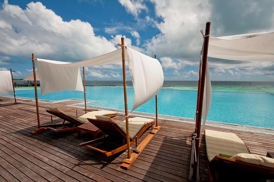 Windy Day At Maldives Photograph