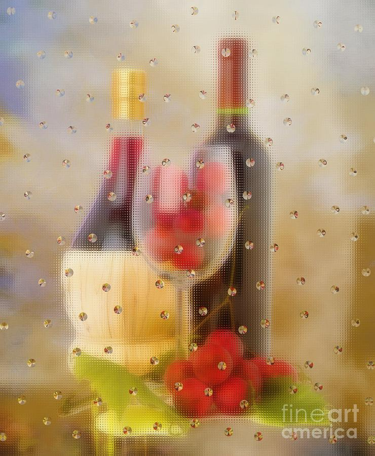 Wine And Grapes Photograph  - Wine And Grapes Fine Art Print