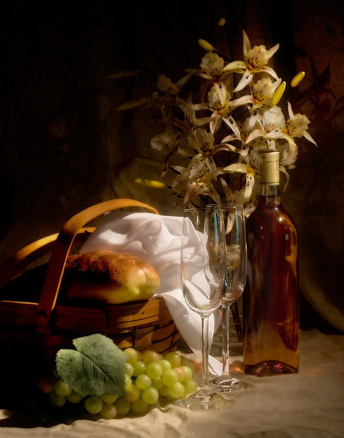Wine And Romance Photograph