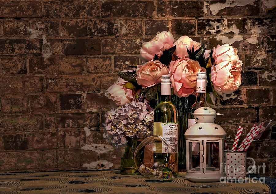 Wine And Roses Photograph
