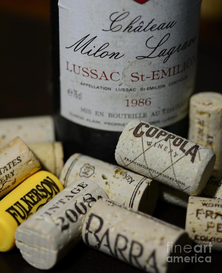 Wine And Wine Corks Photograph