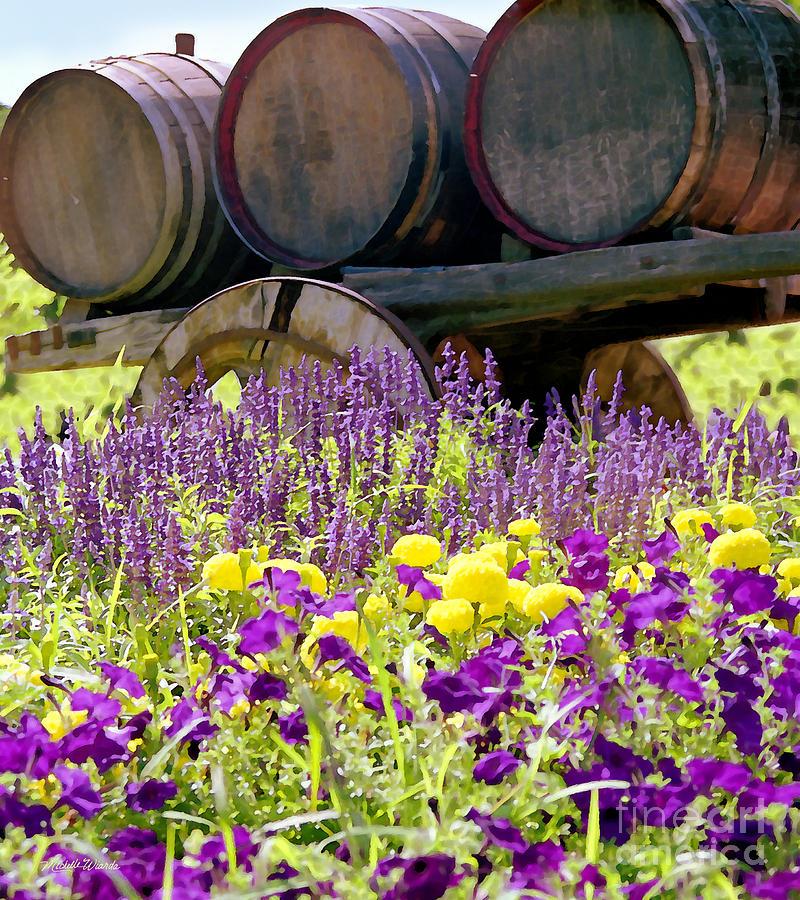 Wine Barrels At V Sattui Napa Valley Digital Art - Wine Barrels At V. Sattui Napa Valley by Michelle Wiarda