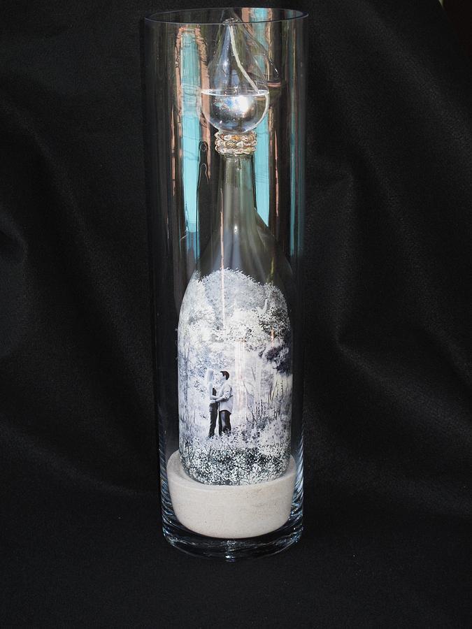 Wine bottle crafts custom order glass art for Wine bottle crafts for sale