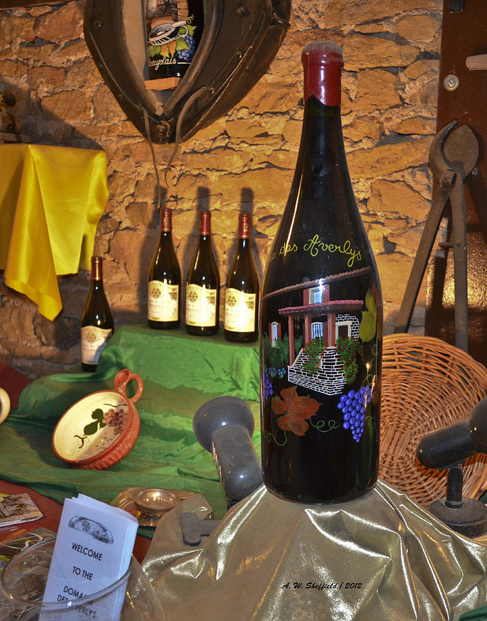 Wine Bottle On Display Photograph