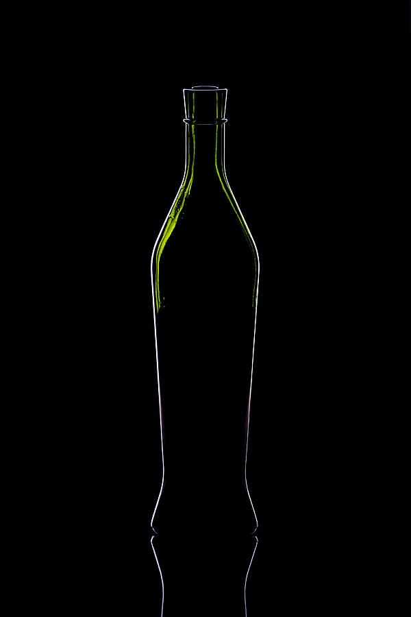 Wine Bottle Silhouette Photograph  - Wine Bottle Silhouette Fine Art Print