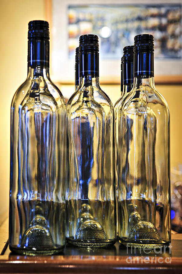 Wine Bottles Photograph  - Wine Bottles Fine Art Print