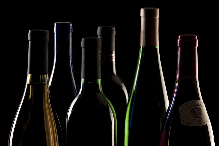 Wine Bottles Photograph